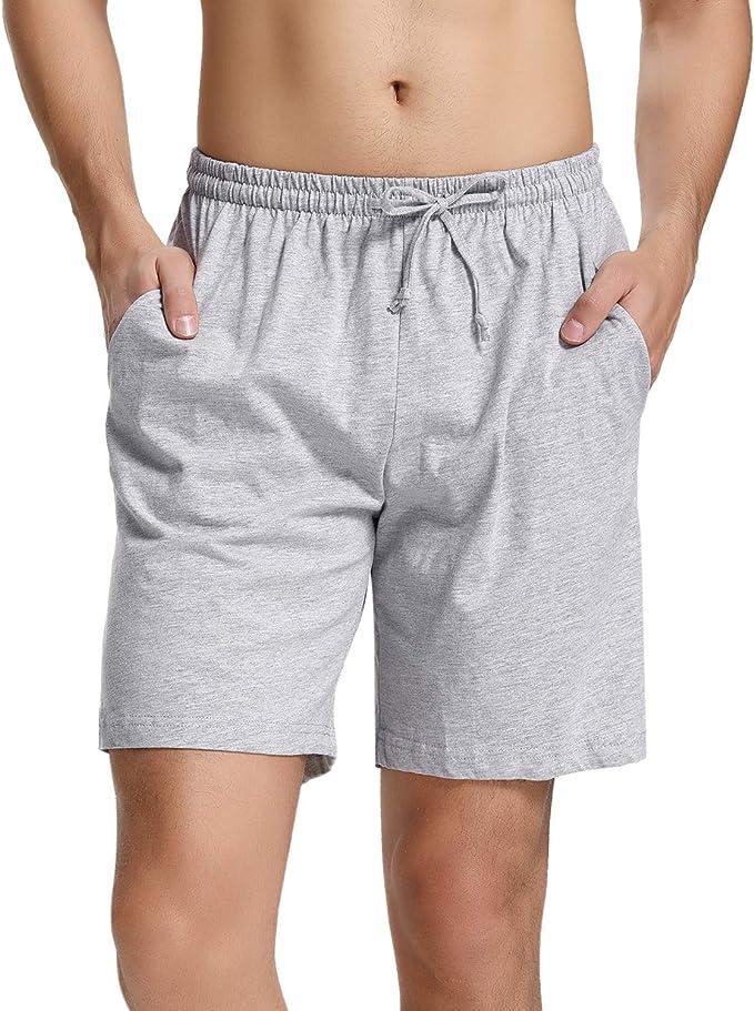 Hawiton Pantalones Cortos de Pijama para Hombre Algodón: Amazon.es: Ropa y accesorios