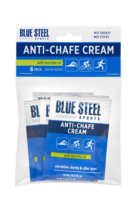 Blue Steel Sports ANTI-CHAFE CREAM Singles 6 Pack