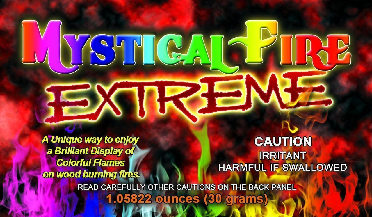 Mystical Fire EXTREME Adds 20% More Colorful Flames to a Campfire - 25 Packs