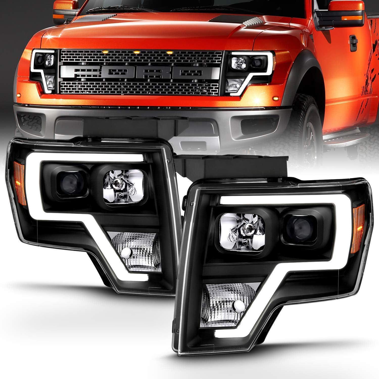 [NRIO_4796]   Amazon.com: AmeriLite Black Projector Headlights LED Bar Set for Ford F150  (Pair) High/Low Beam Bulb Included: Automotive | Ford Hid Headlights Wiring Diagram |  | Amazon.com