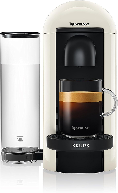 Independiente, Cafetera de filtro, 1,2 L, C/ápsula de caf/é, 1260 W, Blanco Cafetera Krups Nespresso Vertuo Plus Independiente