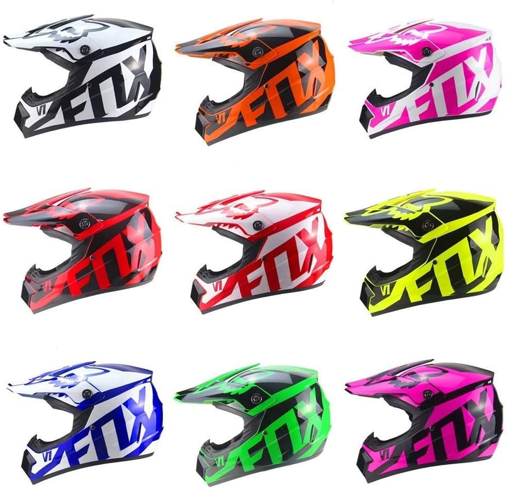 MOUTALE Enfants et Adultes Moto Motocross Casque Set Moto Hors Route Casque de Moto /Équipement de Protection avec des Gants Lunettes Masque City Casques Moto Cross Casques