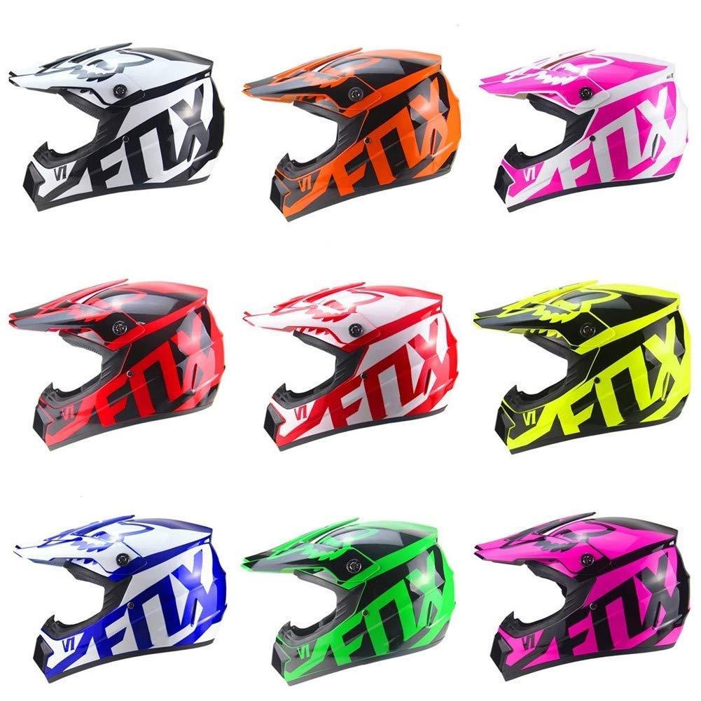Bambini Quad ATV Go-Kart Casco con Guanti Occhiali Maschera Casco da Motociclista ECE 22.05 Certified MOUTALE Bambini per Bambini e per Adulti Moto Croce Caschi