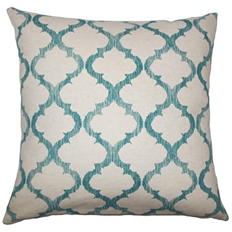 Amazon.com: the pillow collection fortuo geométrico verde ...