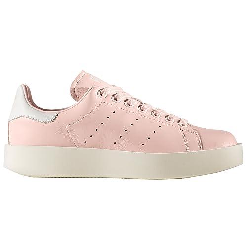Adidas Stan Smith Bold W. Zapatillas con Plataforma para Mujer Rosas y Negras: Amazon.es: Zapatos y complementos