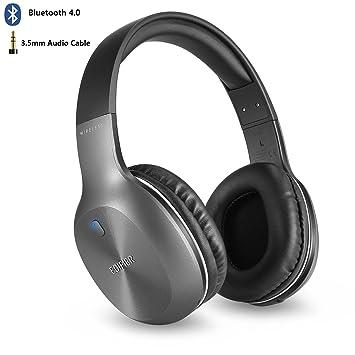 Auriculares Inalambricos Bluetooth, Edifier W806BT Over Ear Hi-Fi Estéreo Cascos con Micrófono,