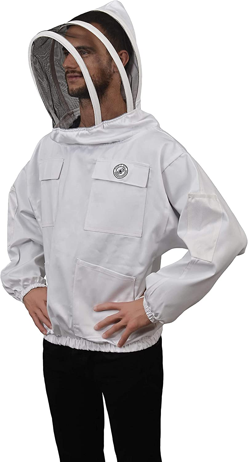 Humble Bee 511 Polycotton Beekeeping Smock with Fencing Veil