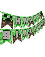 Pixel Party Happy Birthday Banner