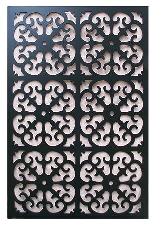 Acurio Roman Black Vinyl Lattice Decorative Privacy Panel