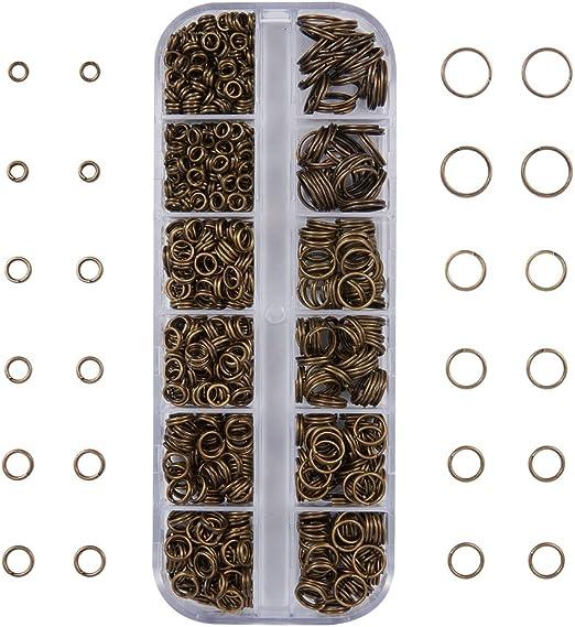 10mm 100pcs Antique Copper Bronze Split Dbl Jump Rings Jewelry Findings Earrings