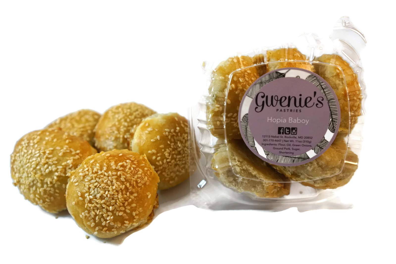 Gwenie's Pastries, Hopia Baboy Filipino Pastry (1 Pack/5 pieces per pack)