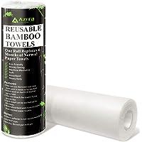 Toallas de papel reutilizables de bambú, sin residuos fuertes, productos respetuosos con el medio ambiente, 30 hojas…