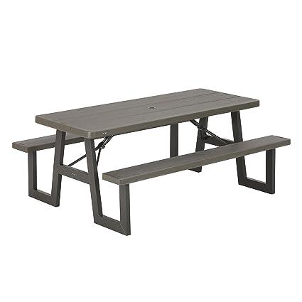 Amazon.com : Lifetime Products 60233 W-Frame Picnic Table : Garden ...