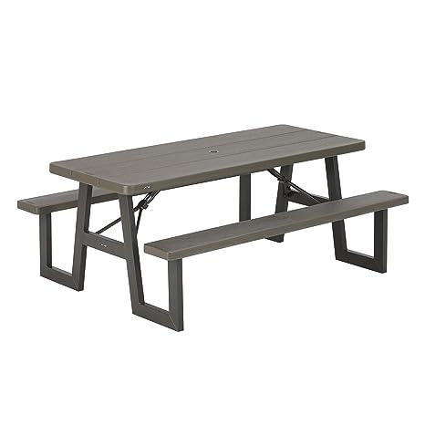 Amazon.com: Lifetime Productos 60233 W-frame mesa de picnic ...
