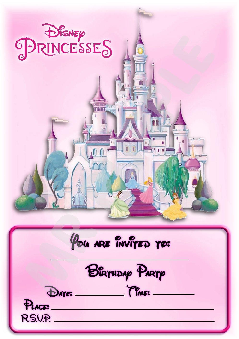 Disney Princess Castle Birthday Party Invites