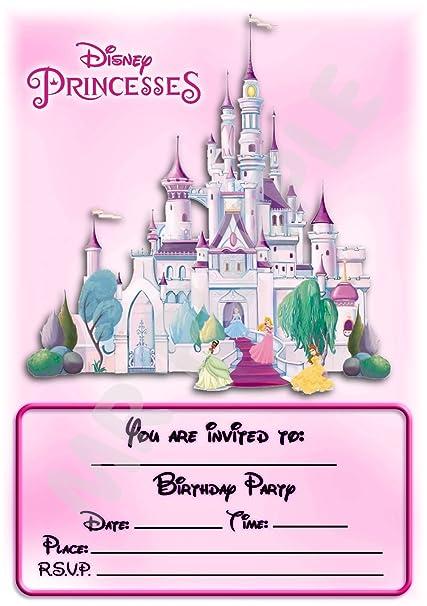 Disney Princess castillo fiesta de cumpleaños invitaciones ...