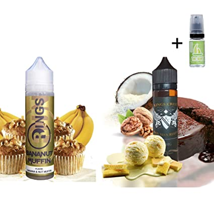 E Liquid Rings Bananut Muffin 50ml - 70vg 30pg + E Liquid Kings Crest Don Juan Reserve ...