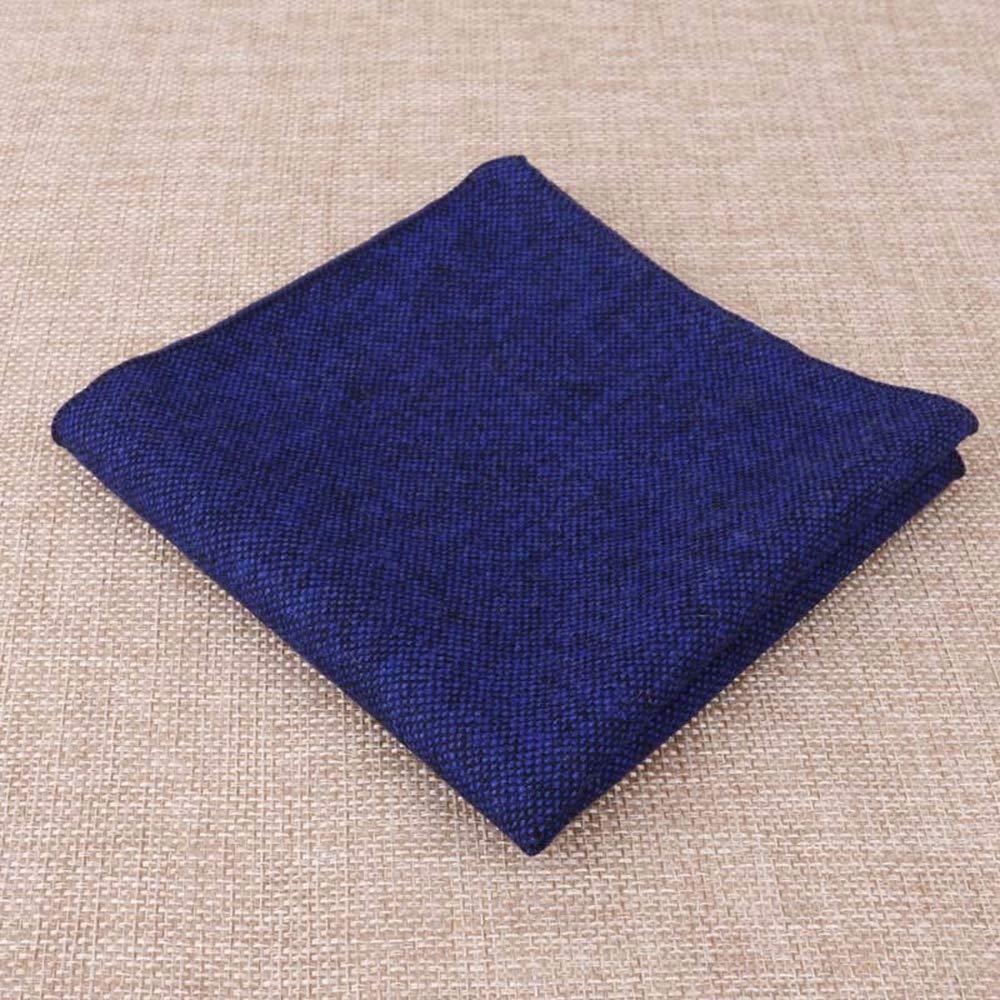 Yevison Men's Suit Pocket Towel Fashion Handkerchief Wool Fabric Square Towel Royal Blue