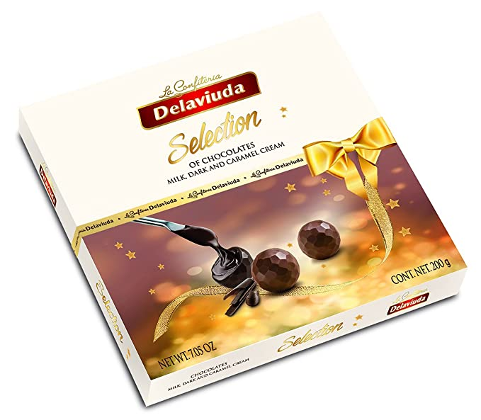 Delaviuda Bombones de Chocolate Surtidos - 5 Paquetes de 200 gr - Total: 1000 gr