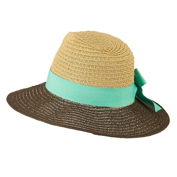 f55025e0c5c Jeanne Simmons Floppy Wide Brim Fedora Hat - Aqua OSFM at Amazon Women s  Clothing store