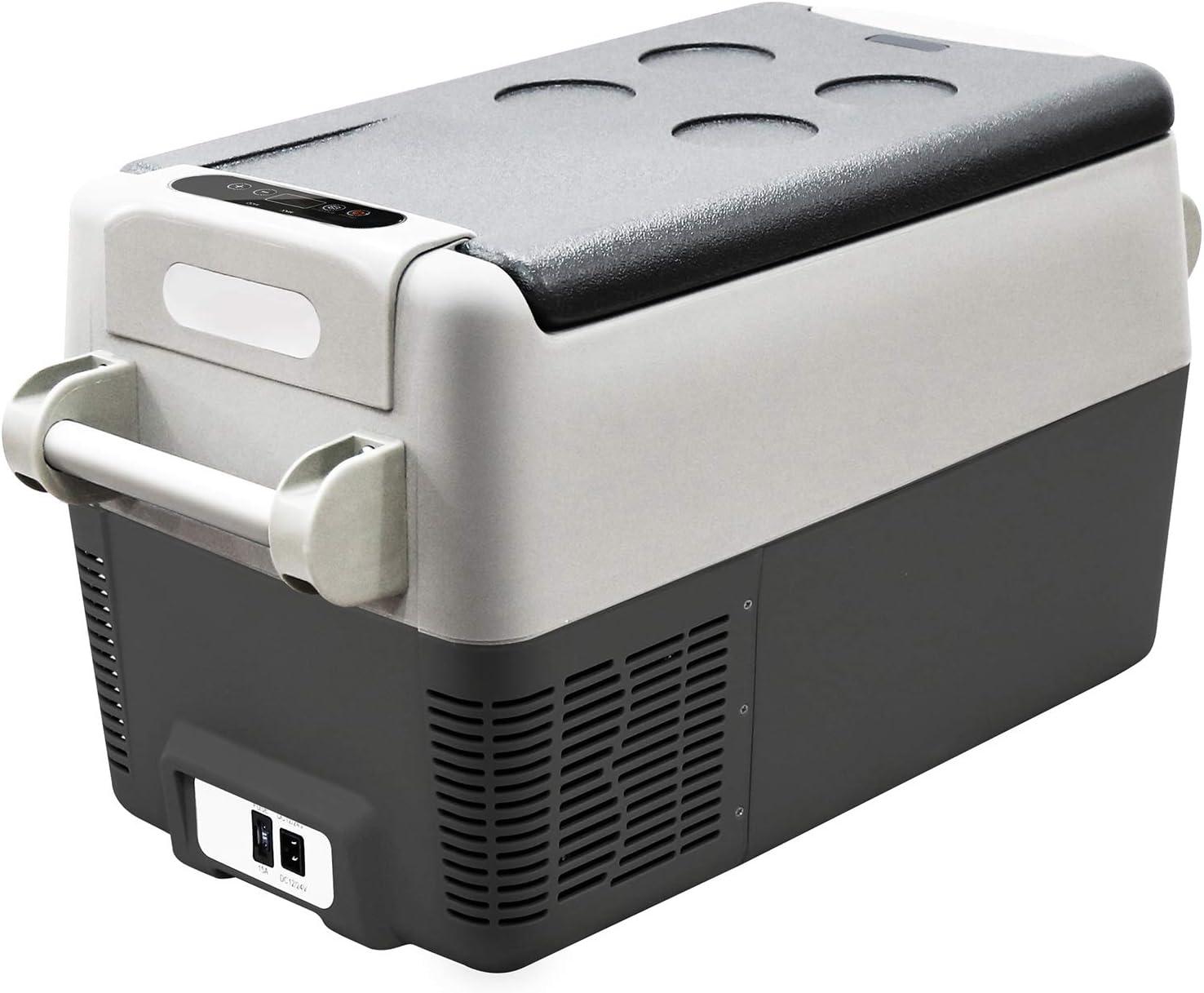 Portable Refrigerator 12V Car Freezer, 30 Liter Truck Refrigerator, Home and Car Use, Electric Powered 12V/110V, 2-YEAR Warranty on the Compressor