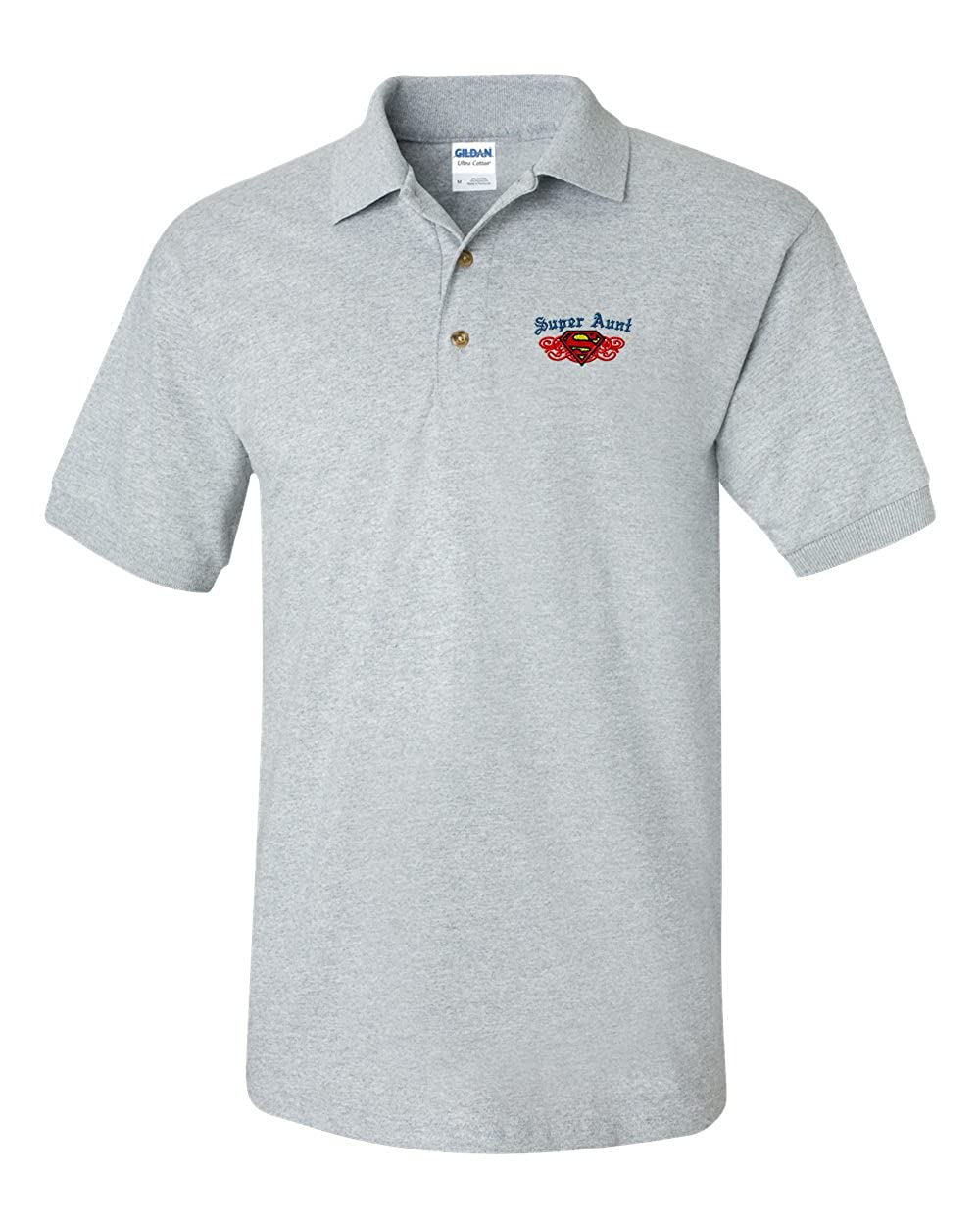 Super Aunt Custom Personalized Embroidery Embroidered Golf Polo