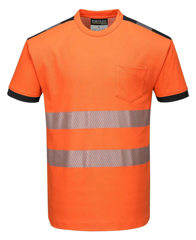 Portwest T181ORR4XL Vision Hi-Vis - Camiseta de manga corta, talla ...
