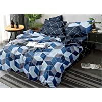 Sellpoint® Comforter Set pascos 6 Piece Set Includes 1 Queen Size bedsheet + 2 Quilted Pillow Cover + 2 Quilted Cushion + 1 Double Bed Comforter Size 90 * 100 with Attractive Bag - Multi Colour