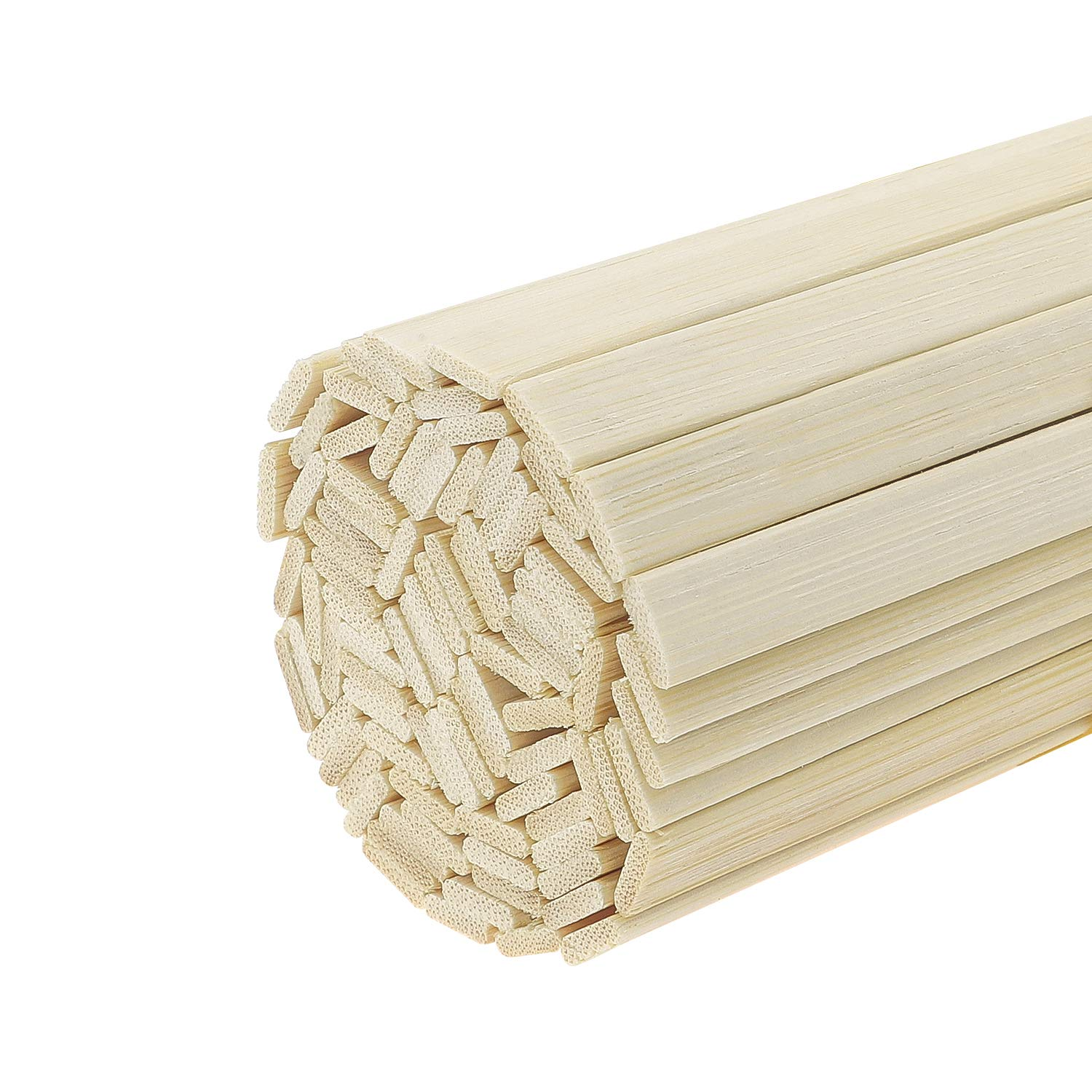 Favordrory 11.8 Inches Wood Craft Sticks Natural Bamboo Sticks, Bamboo Strips, Strong Natural Bamboo Sticks (100 Pieces)