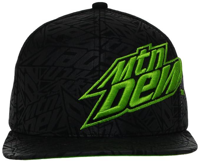 a32948222 Mountain Dew Screen-Print Logo Baseball Cap, Cotton Twill at Amazon ...