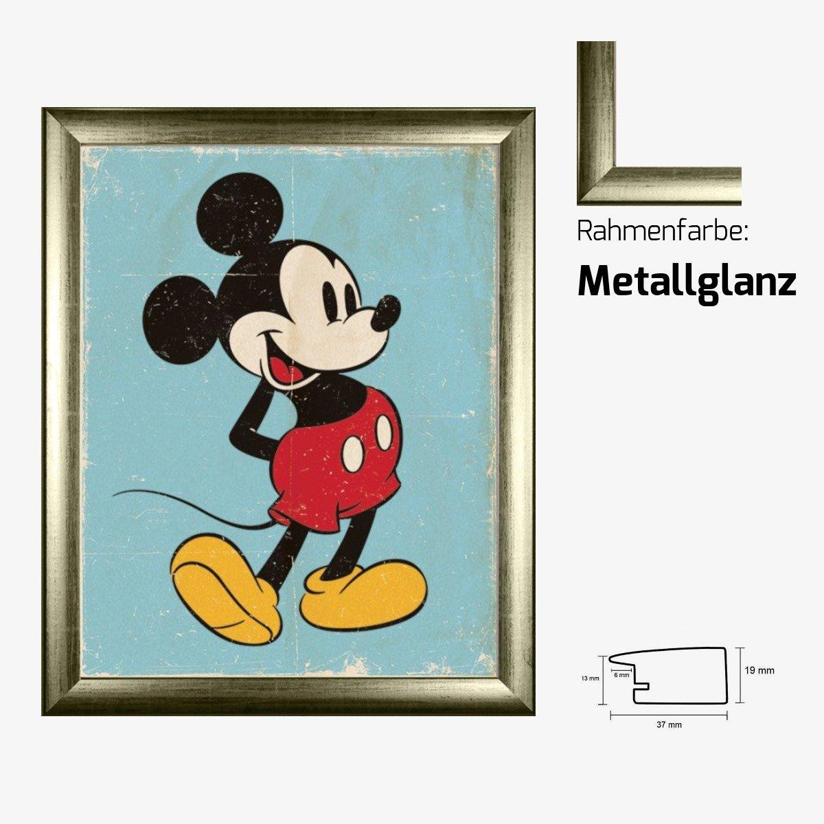 Kunstdruck Poster - Micky Maus Mickey Mouse Retro Walt Disney 40 x ...