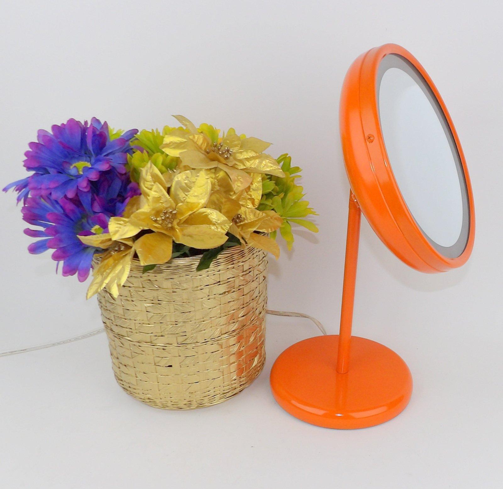 Vanity Makeup Mirror Lighted Bathroom Bath Orange by Making Mid Century Mod