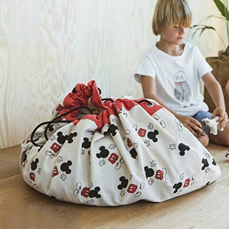 KIMSAI Bolsa De Almacenamiento De Juguetes para Niños Mats ...