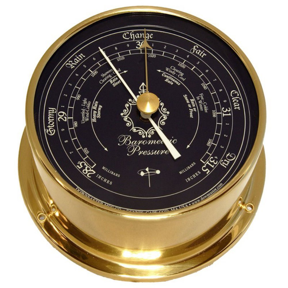 Downeaster Blue Dial Standard Barometer Cape Cod Wind and Weather Inc #3060B