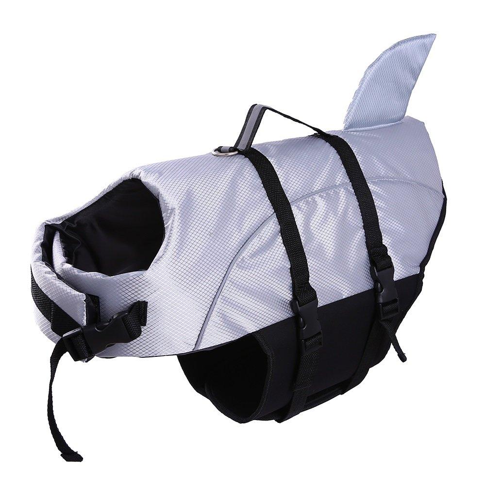 Dog Life Jacket Large ,Dogs Life Vests For Swimming Extra Large, Float Coat Swimsuits Flotation Device Life Preserver Belt LifesaverFlotation Suit For Pet LabradorWith Reflective Straps Sivel xl