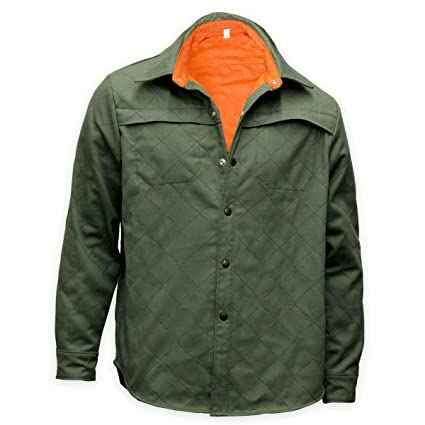 6475a264c809 Image Unavailable. Image not available for. Color  Chicago Protective  Apparel 625-WQM-2XL FR Olive Quilted Welding Shirt ...