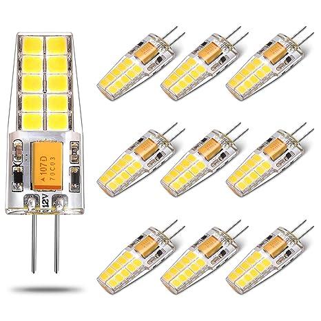 G4 Led Bulb 12v 20w 25w Halogen Lamp Replacement 2 5 Watt 250 Lumens Bi Pin Base Light Daylight White 6000k For Puck Lights Under Cabinet
