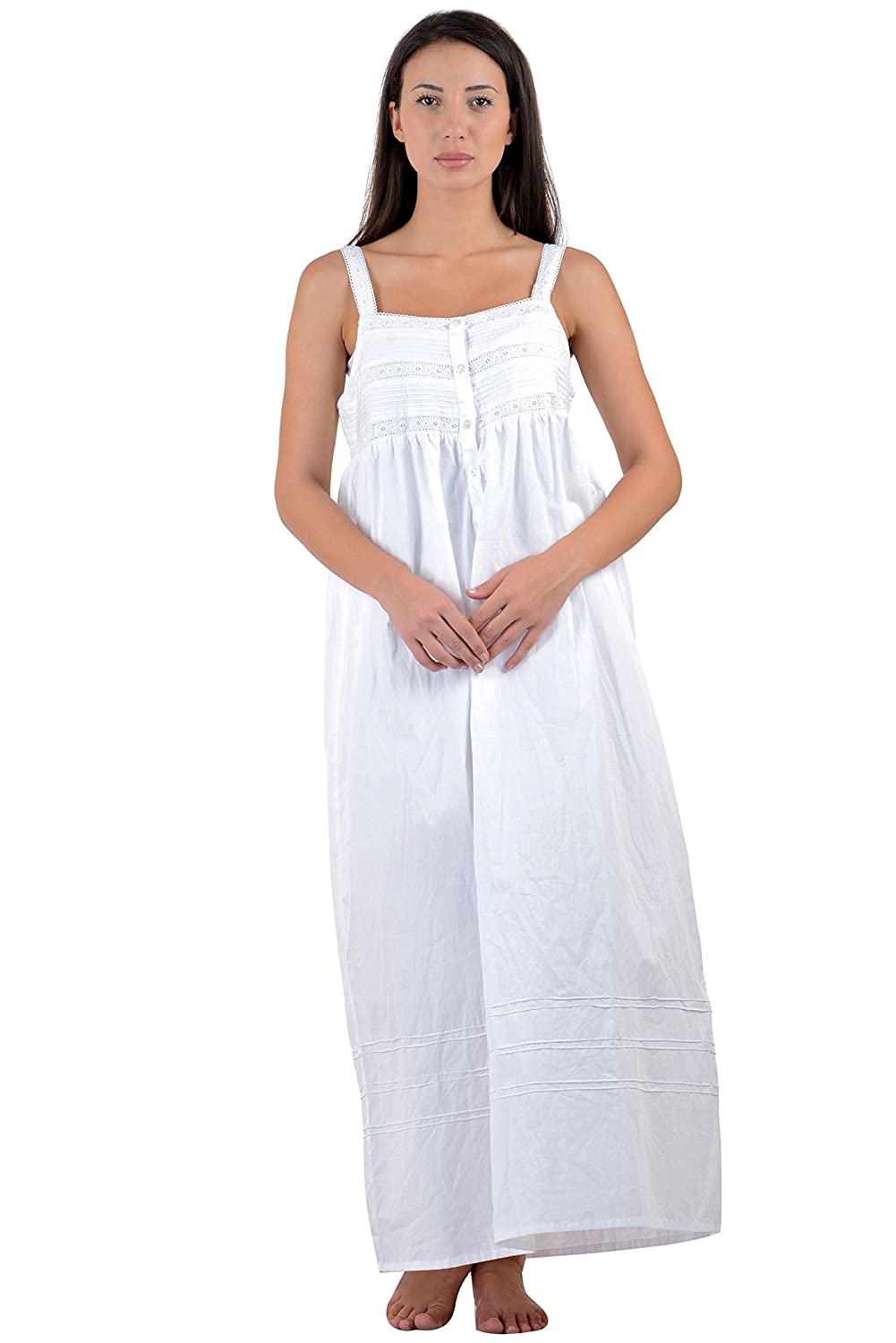 Cotton Lane Classic Cotton Sleeveless Nightdress C92WT