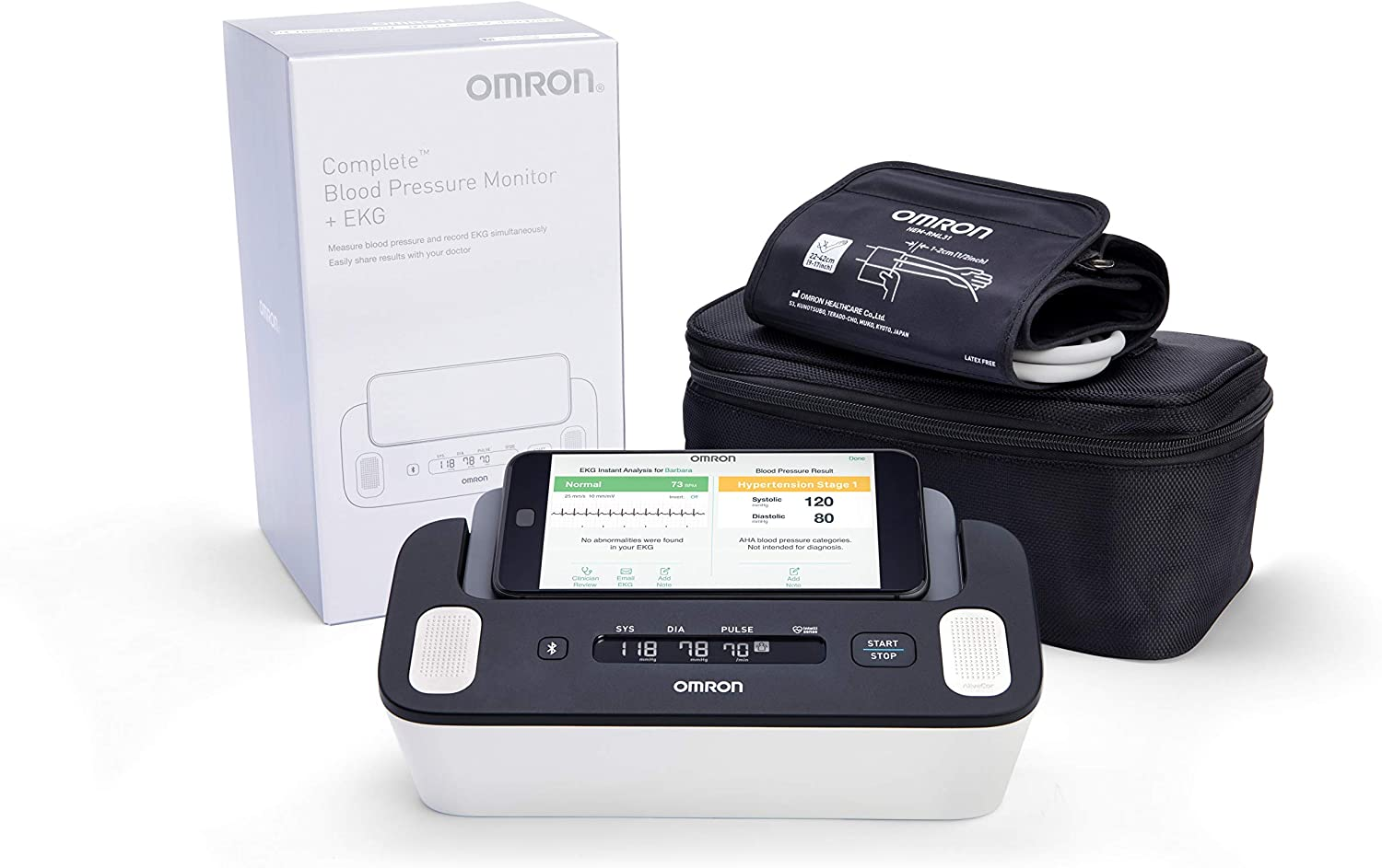 Omron Complete Wireless Upper Arm BP and EKG