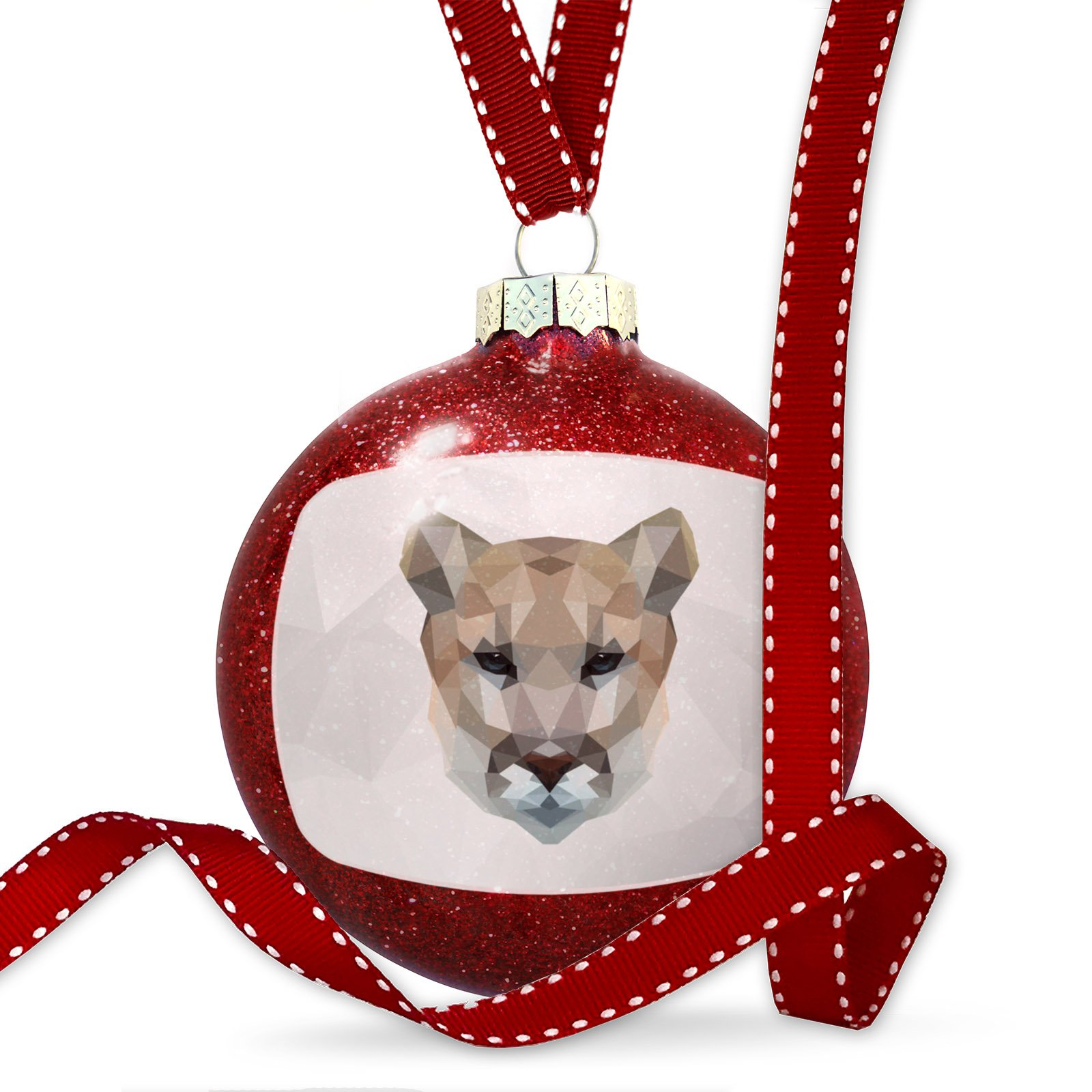 Christmas Decoration Low Poly zoo Animals Cougar Ornament