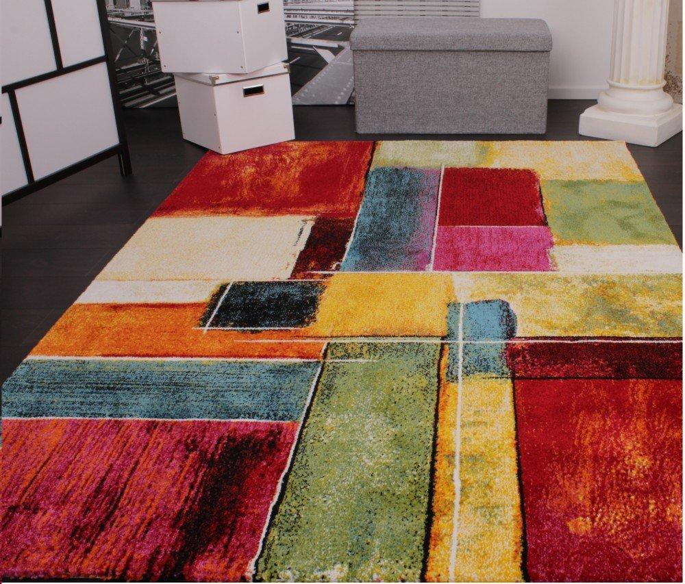 AuBergewohnlich PHC Teppich Modern Splash Designer Teppich Bunt Karo Model Neu OVP,  Grösse:80x150 Cm: Amazon.de: Küche U0026 Haushalt