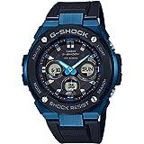 Casio G-Shock G-STEEL SLIM Mens Tough Solar Black Blue Watch GSTS300G-1A2
