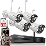 [60 Days Storage&Expandable 8CH]Wireless NVR Security Camera System Outdoor With 2TB Hard Drive ,Wireless CCTV Video Surveill