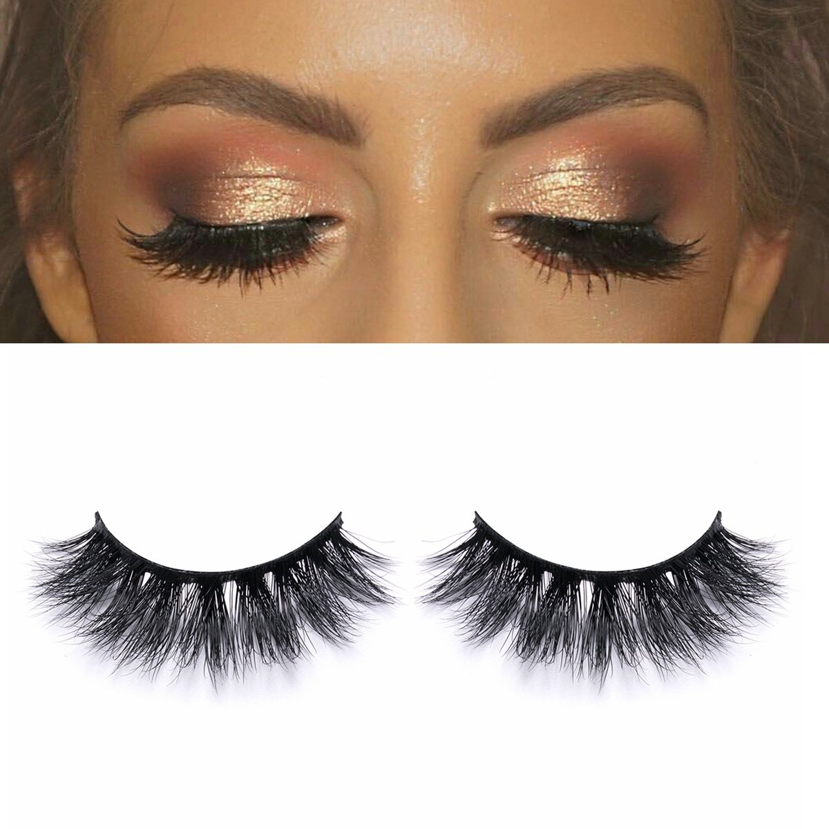 0597e62ec77 Amazon.com : 3D Mink Eyelashes Strips Double Wispies Reusable Party Luxurious  Mink Lashes Extremely Soft with Thin Band Christmas Eye Lashes : Beauty