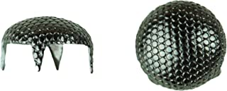 product image for Stippled Pearl Nailhead, Size 40, Solid Brass, Black Nickel Finish, 250 Pieces per Pack