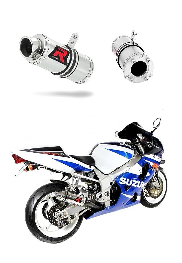 Suzuki GSXR 600 750Y K1-K5 Black Round Exhaust Can SL