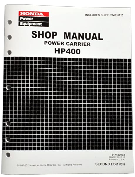 amazon com honda hp400 power carrier service repair shop manual rh amazon com HP 400 Driver HP 400 M401dn