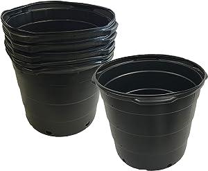 Viagrow 15 Gallon Round Nursery Trade Pots (5 Pack, Black) VHPP1500-5