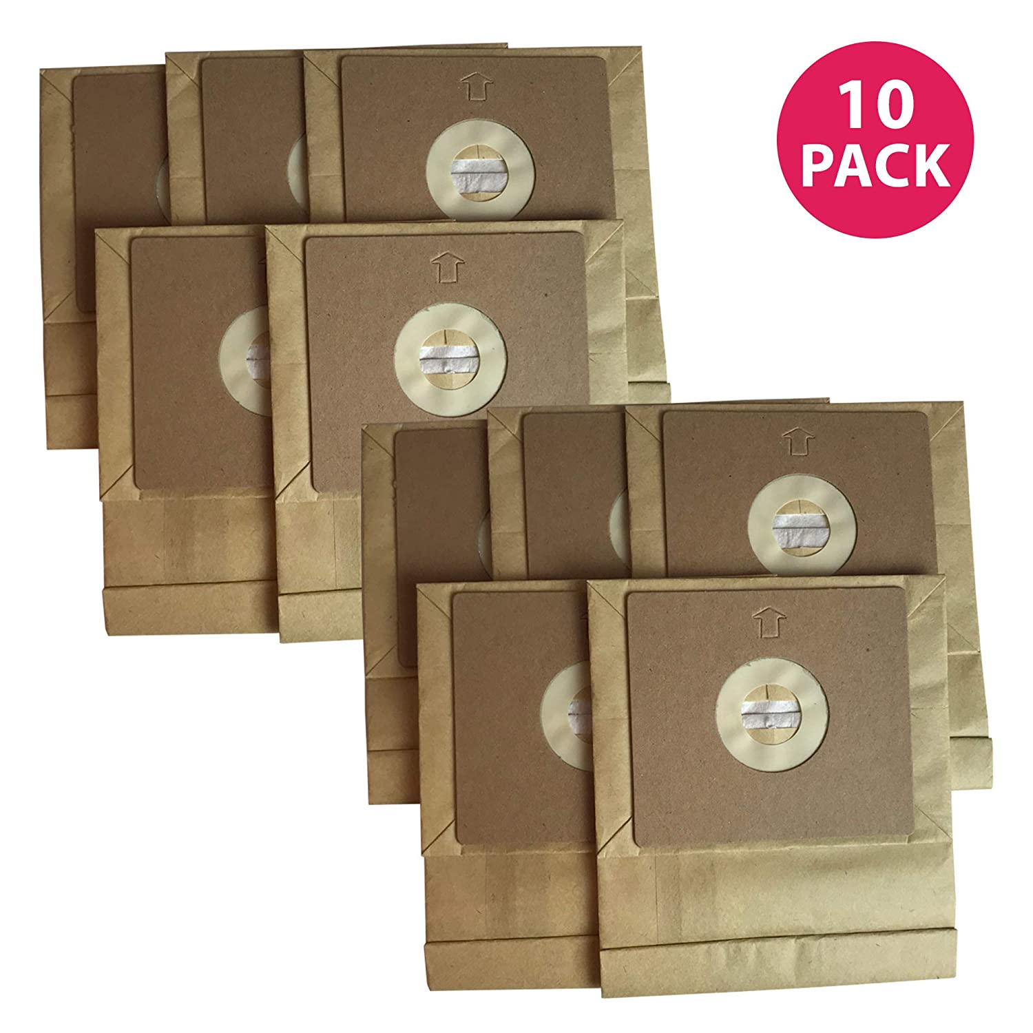 Crucial Vacuum Replacement Vac Bags - Compatible with Bissell Part # 3210 - Bissell Bags Fit 7100 & 7100L Models - Compact, Bag for Pre-Motor, Post-Motor Filters - Quickly Replaces, Holds (10 Pack)