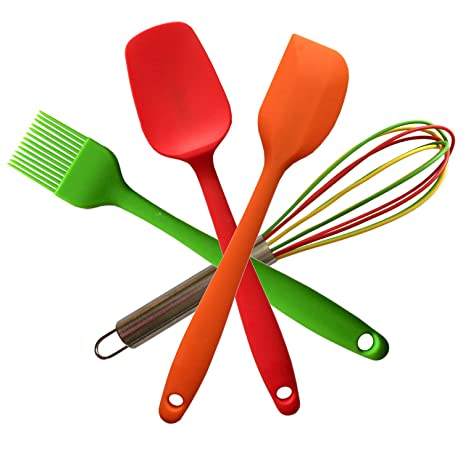 Perfect Kitchen Utensils For Kids Divine Delights Silicone Cooking Utensils  Gift Set, Hygienic, Durable